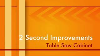 2 Second Improvement Table Saw Cabinet