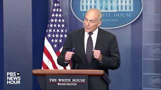 WATCH: Sarah Sanders, John Kelly hold White House news briefing