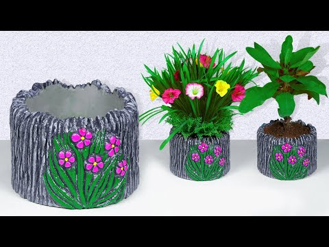 easy-flower-vase-making-||-flower-pot-making-||-cement-vase-||-decorative-showpiece-for-home-decor
