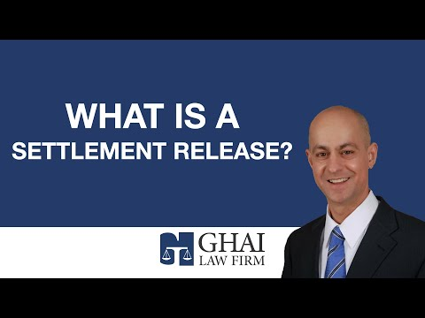 What is a settlement release?