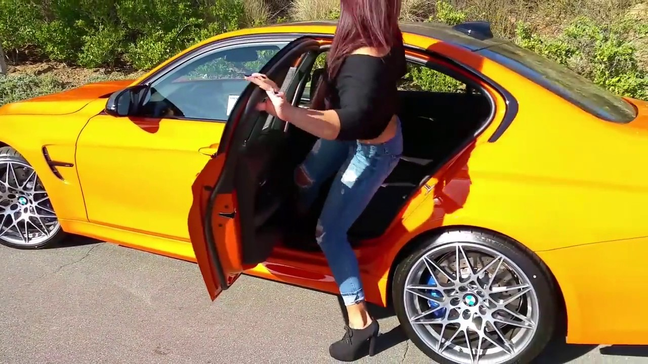 NEW BMW M3 Fire Orange Competition Package Exhaust Sound 20  YouTube
