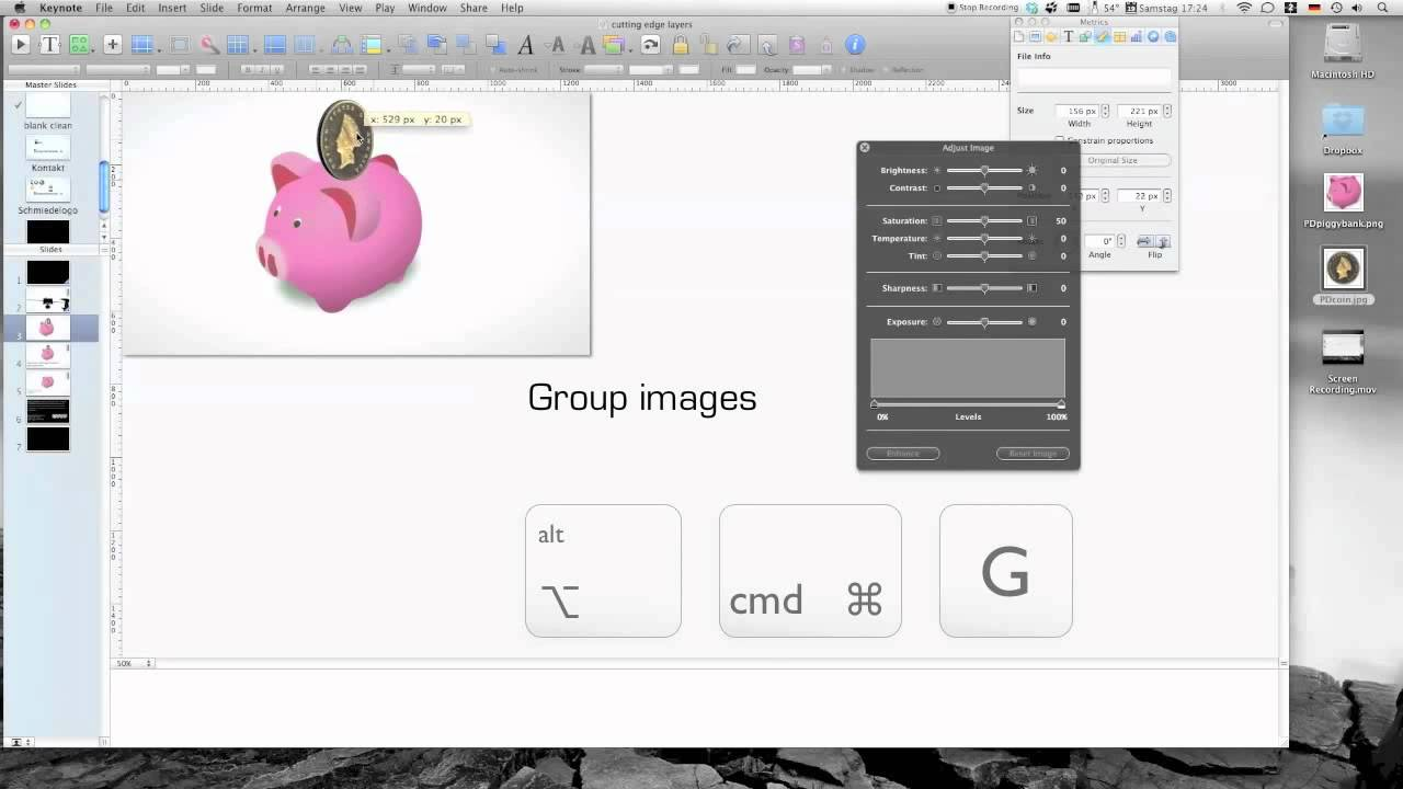 Keynote tutorial: Working with layered images in presentation design
