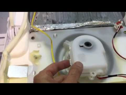Replace evaporator fan in samsung rf263 refrigerator youtube for Evaporator fan motor troubleshooting