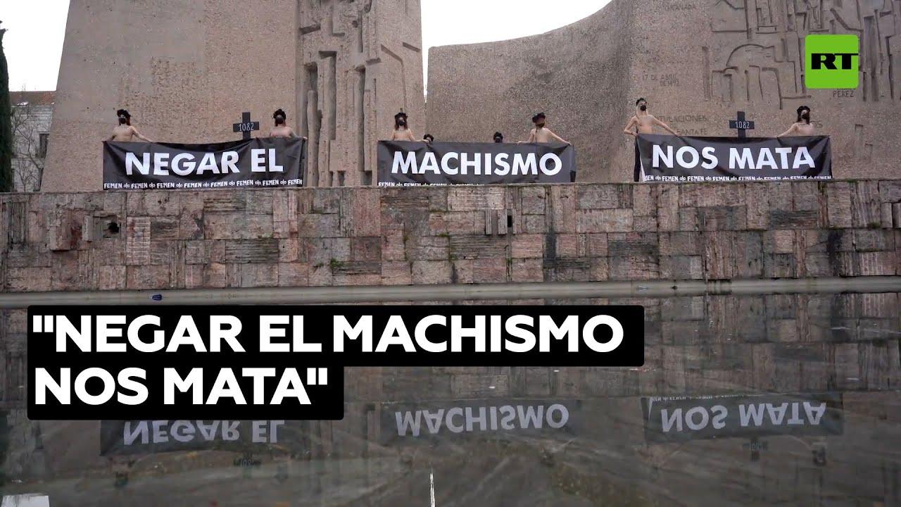 """Activistas de FEMEN protestan contra la """"pandemia machista"""" en Madrid"""