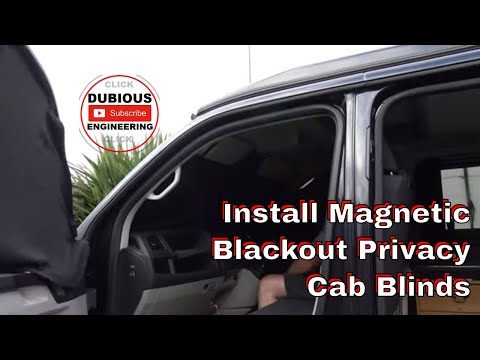 DuB-EnG: How To Install Magnetic Black Out Privacy Screen Blinds In Your VW T5 T6 Front Cab Review