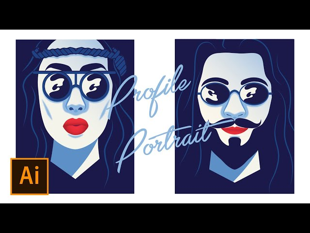 Profile Portrait Vector | Illustrate Yourself based on photo | Adobe Illustrator Tutorial