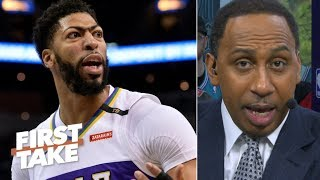 Anthony Davis botched his trade demand to the Pelicans – Stephen A. | First Take
