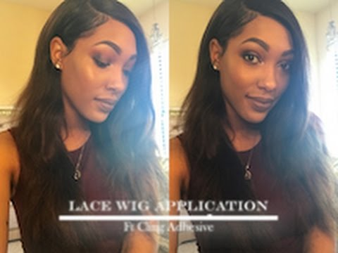 Lace Wig Application Ft Herimport S Cling Adhesive Youtube