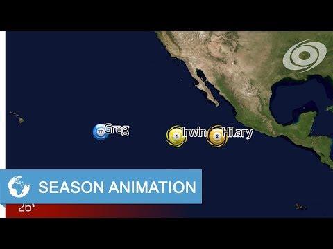 2017 Pacific Hurricane Season Animation
