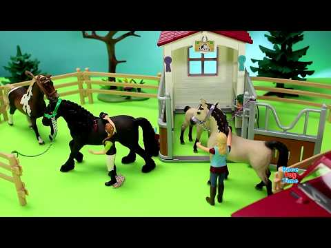 Horse Stable Barn Schleich Toy Playset For Kids