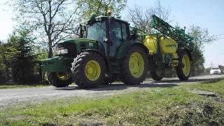 Opryski 2013 - John Deere 6330Premium i John Deere 740i