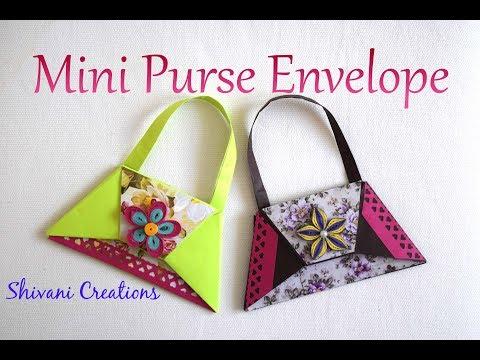 Mini Purse Envelope/ Origami Purse Tutorial/ DIY Shagun Envelope for Rakhi