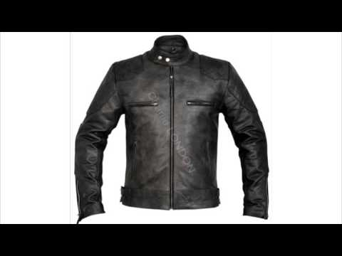 Mens Designer Stannard Grey Leather Jacket - YouTube