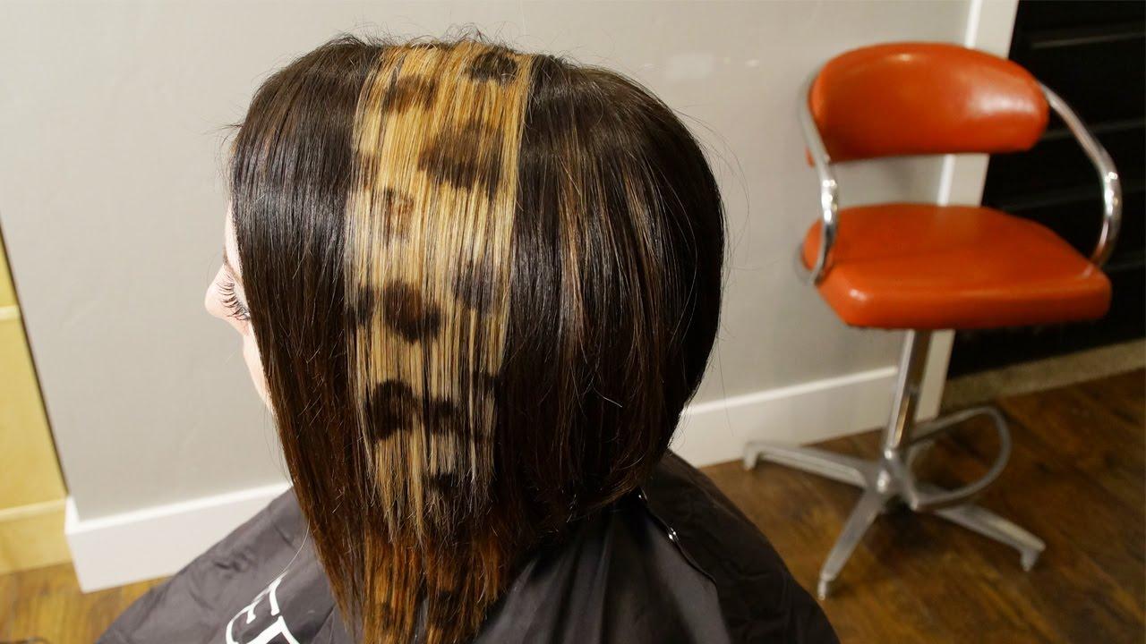 leopard print hair color