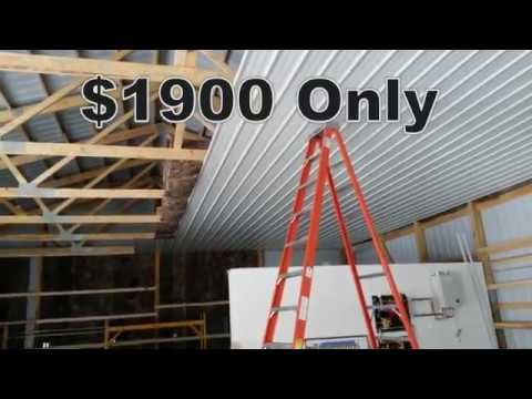 Pole Barn Steel Ceiling Liner Install Tips Amp Ideas Youtube