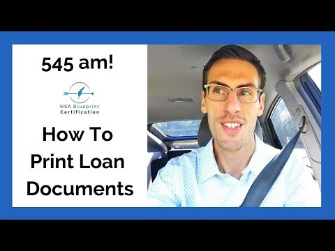 How to print Loan Documents (545am!) as a Notary Signing Agent