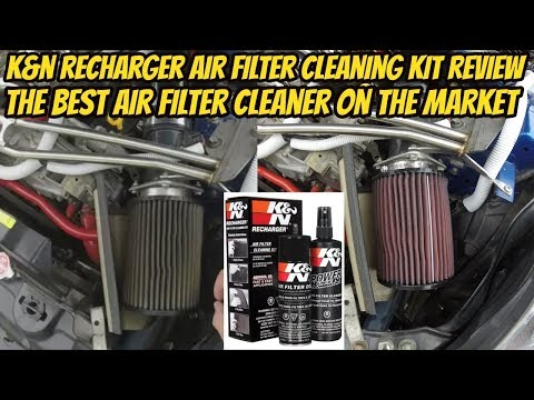 K&N Recharger Air Filter Cleaning Kit Review (350z)
