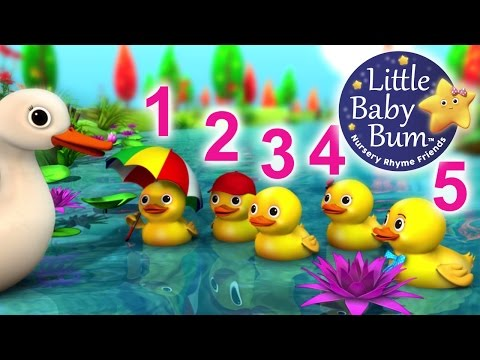 Five Little Ducks  Nursery Rhymes  from LittleBaBum!