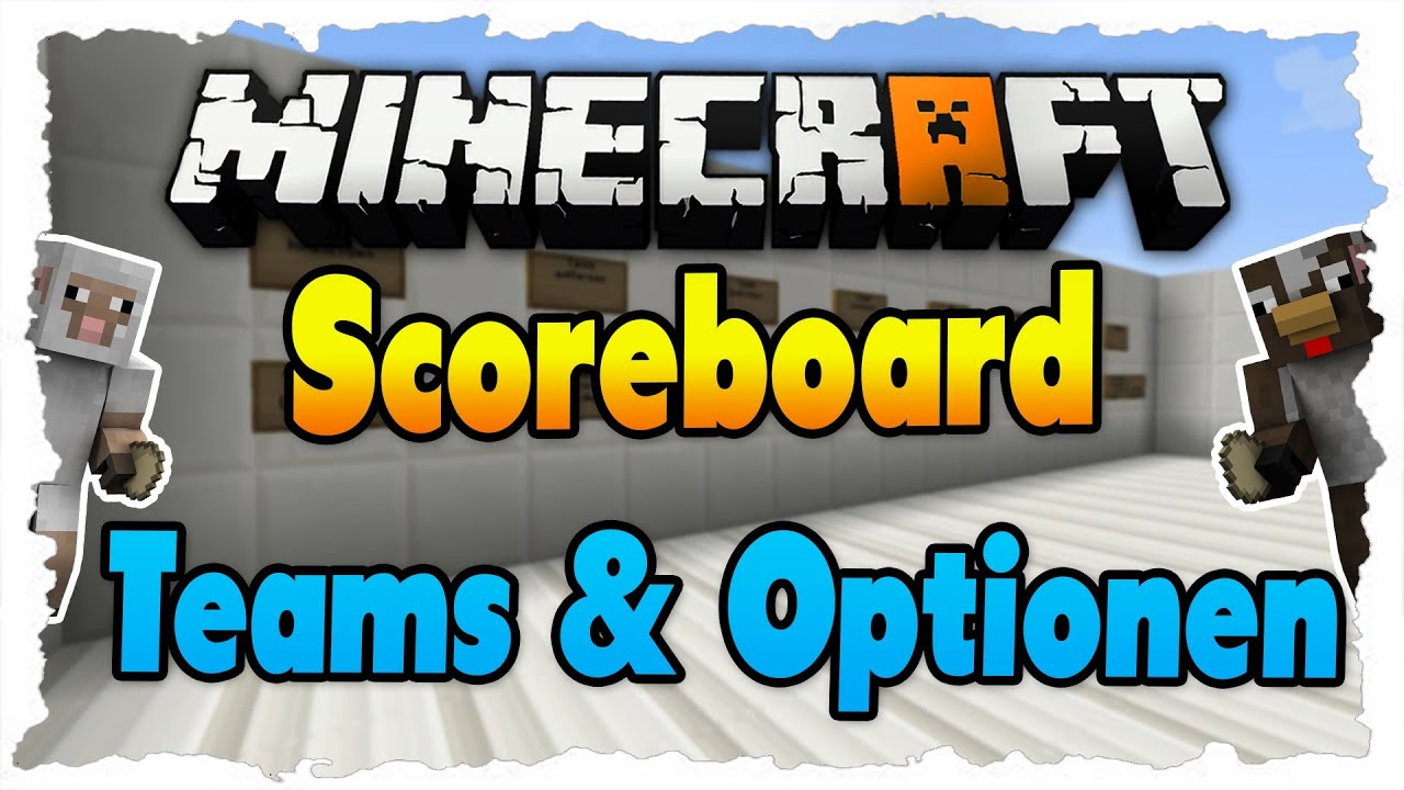 Scoreboard Teams Einrichten FarbeOptionen Tutorial HD - Minecraft server teams erstellen