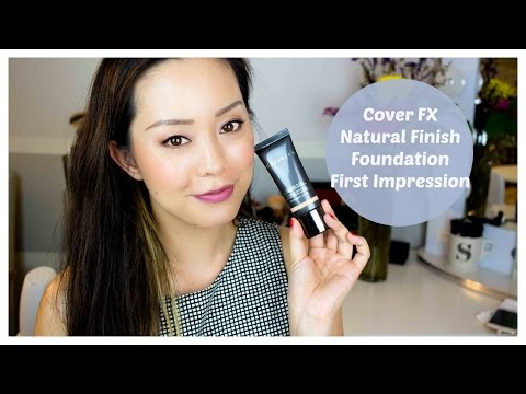 Cover FX Natural Finish Oil Free Foundation First Impressions Review