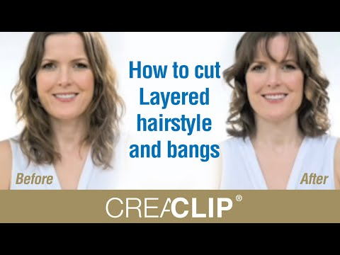 youtube how to style long hair how to cut layered hairstyle and bangs 8750 | hqdefault