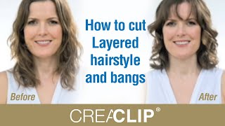 How to cut  Layered hairstyle and bangs thumbnail