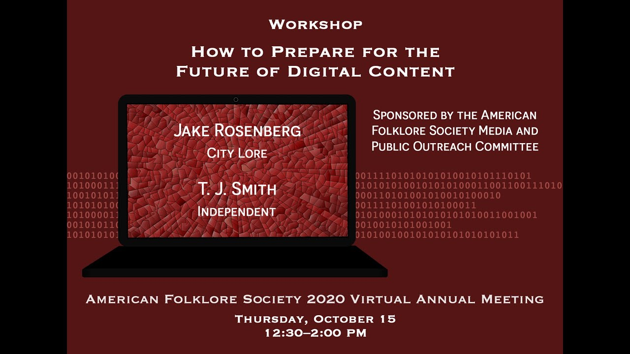 Folklore 2025 American Folklore Society 2020 Virtual Annual Meeting Youtube