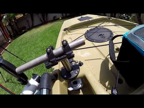 Watersnake T24 kayak mount on Hobie Pro Angler 12