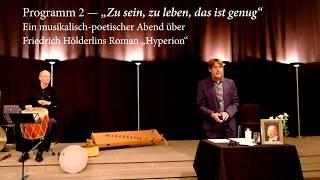 Am 20. März 2020 jährt sich zum 250sten mal Hölderlins Geburtstag. ...