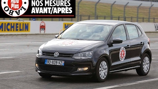 Volkswagen Polo 1.6 TDI 90 : les mesures avant-après rappel