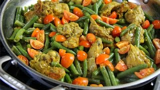 Strings Beans With Leftover Curry Chicken #TastyTuesdays | CaribbeanPot.com