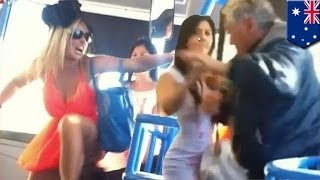 Girls rob a store then assault of a 77-year-old man on Gold Coast bus (caught on camera)