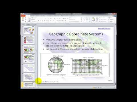 Lecture Chapter 11 | a GIS Video Lecture by Gregory Lund