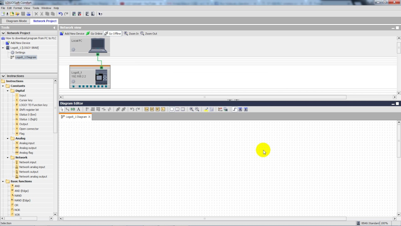 Siemens Logo Plc How To Download Program From Pc To Plc Youtube