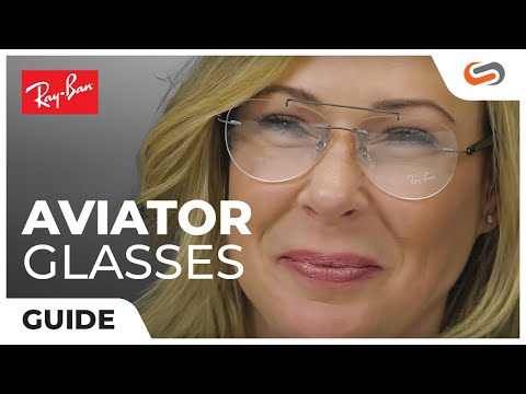 Ray-Ban Clear Aviator Glasses | SportRx