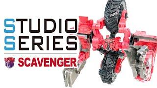 Studio Series 55 SCAVENGER 電影工作室 清道夫/挖土機【KL變形金剛玩具分享505】