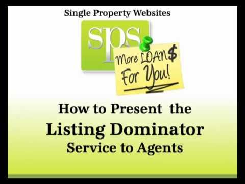 Single Property Websites tutorial presentation for Loan Officers