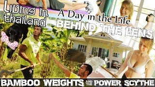 LIVING ON A BANANA FARM IN THAILAND, House Tour & Bamboo Exercise Weights (ADITL BTL EP6)