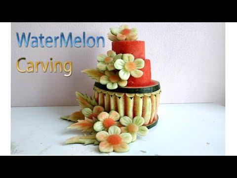 Birthday Cake | carving fruits | By BÀN TAY ĐEN #carving #watermelon