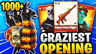 Craziest Fortnitemare Llama Opening Ever! *INSANE LOOT* Fortnite Save The World