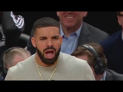 Drake Exchanges Words With John Wall During The Game! Raptors vs Wizards