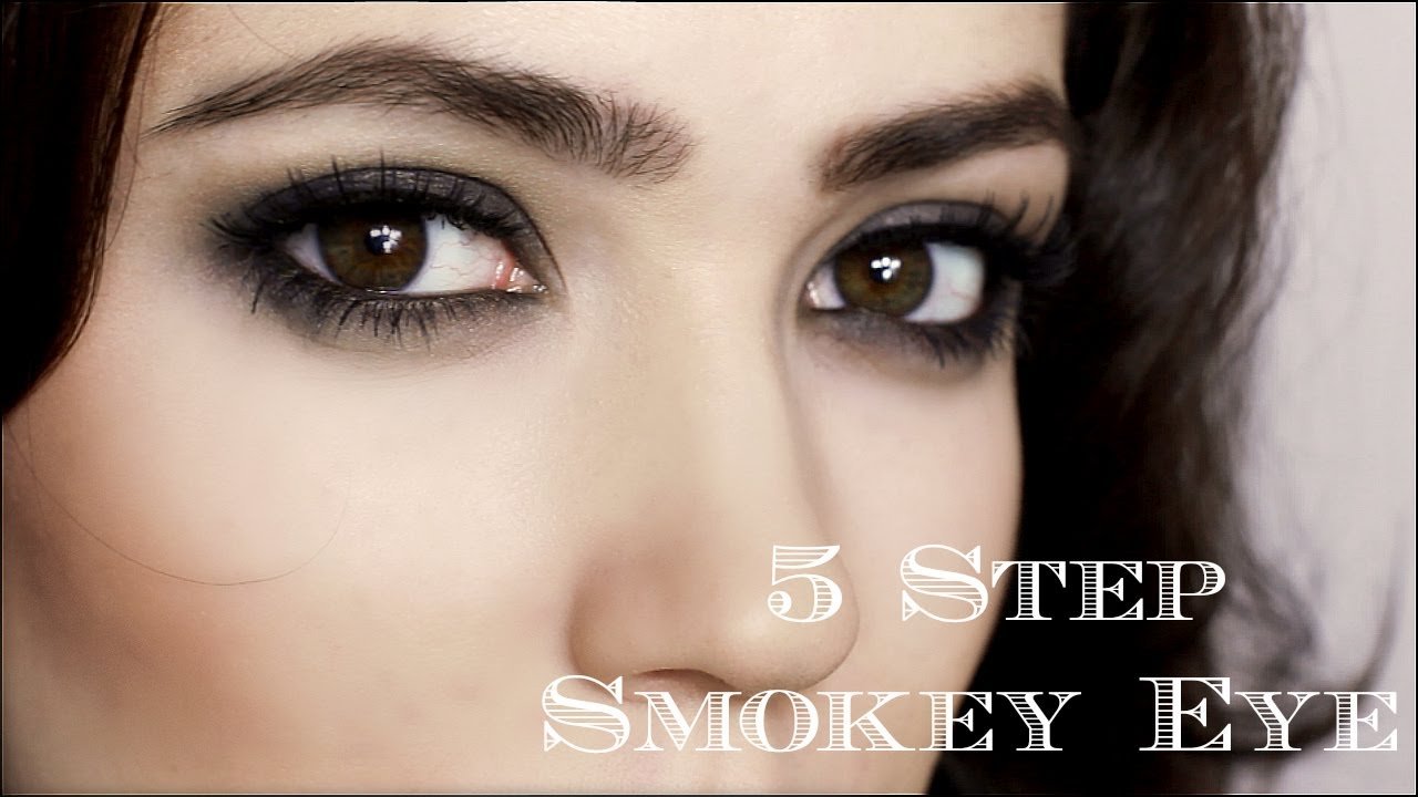 dramatic smokey eye | 5 steps | makeup tutorial