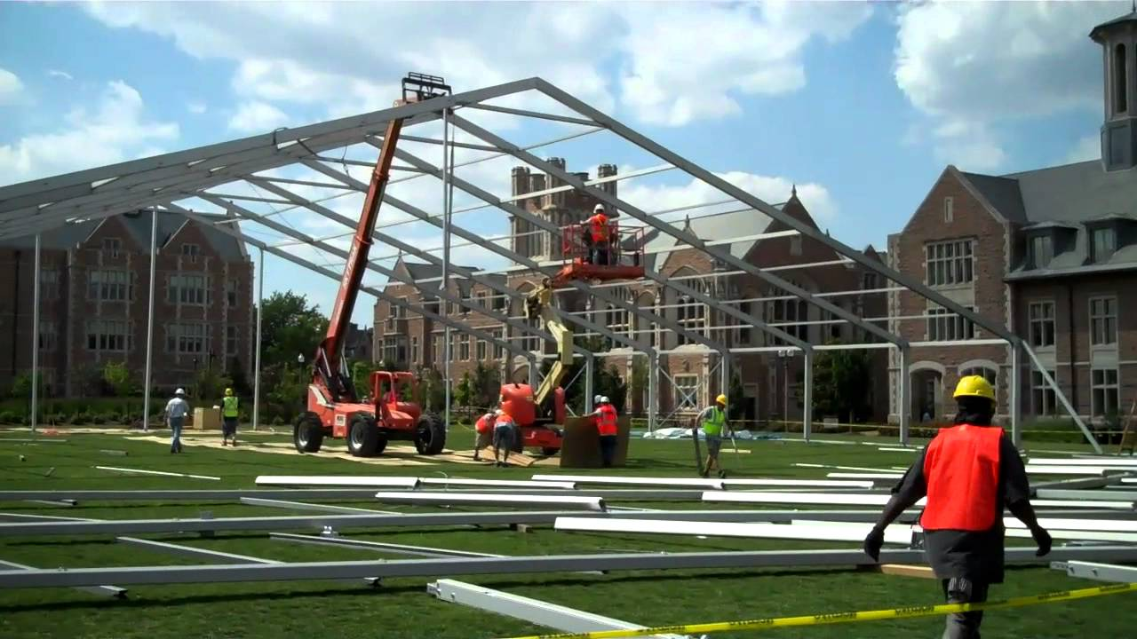 Traube Tent Clearspan Install Mp4 Youtube