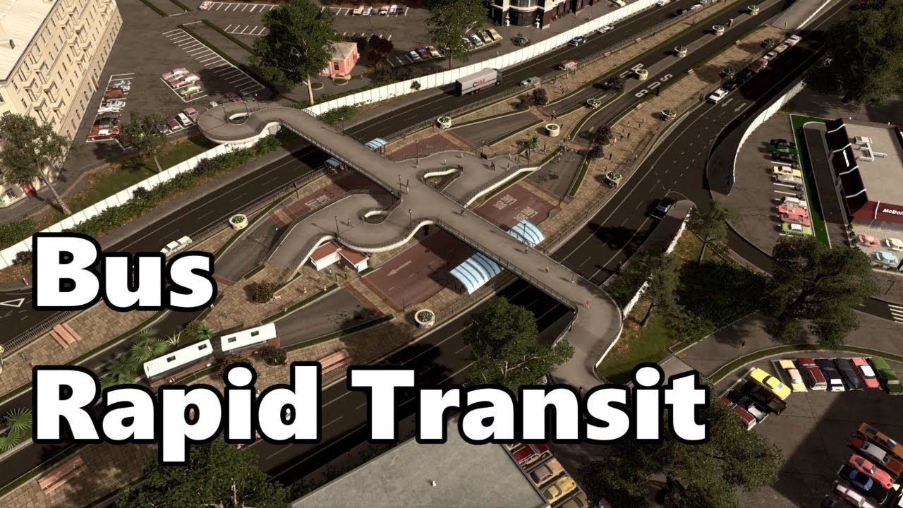 Cities Skylines Bus Rapid Transit BRT Build YouTube