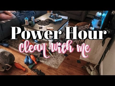 POWER HOUR CLEAN WITH ME! | ONE HOUR SPEED CLEANING MOTIVATION | EXTREME CLEAN WITH ME!