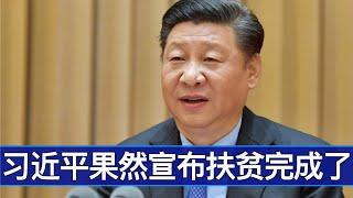 政治局常委会习近平如期宣布完成脱贫任务/Xi Jinping Announced the Completion of An End to Poverty/王剑每日观察/20201203