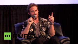USA: Ryan Gosling talks to Guillermo del Toro at SXSW