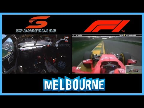 V8 Supercars vs Formula 1 - Albert Park - Australia - Onboard Comparison