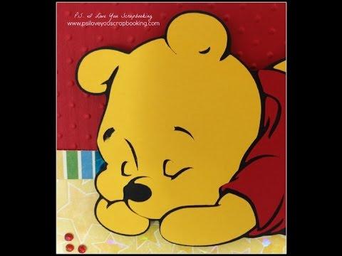 Baby Winnie the Pooh Cricut Card