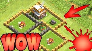 РДА-Почти топ тх5 с одной пушкой и нулевыми воисками!Clash of clans